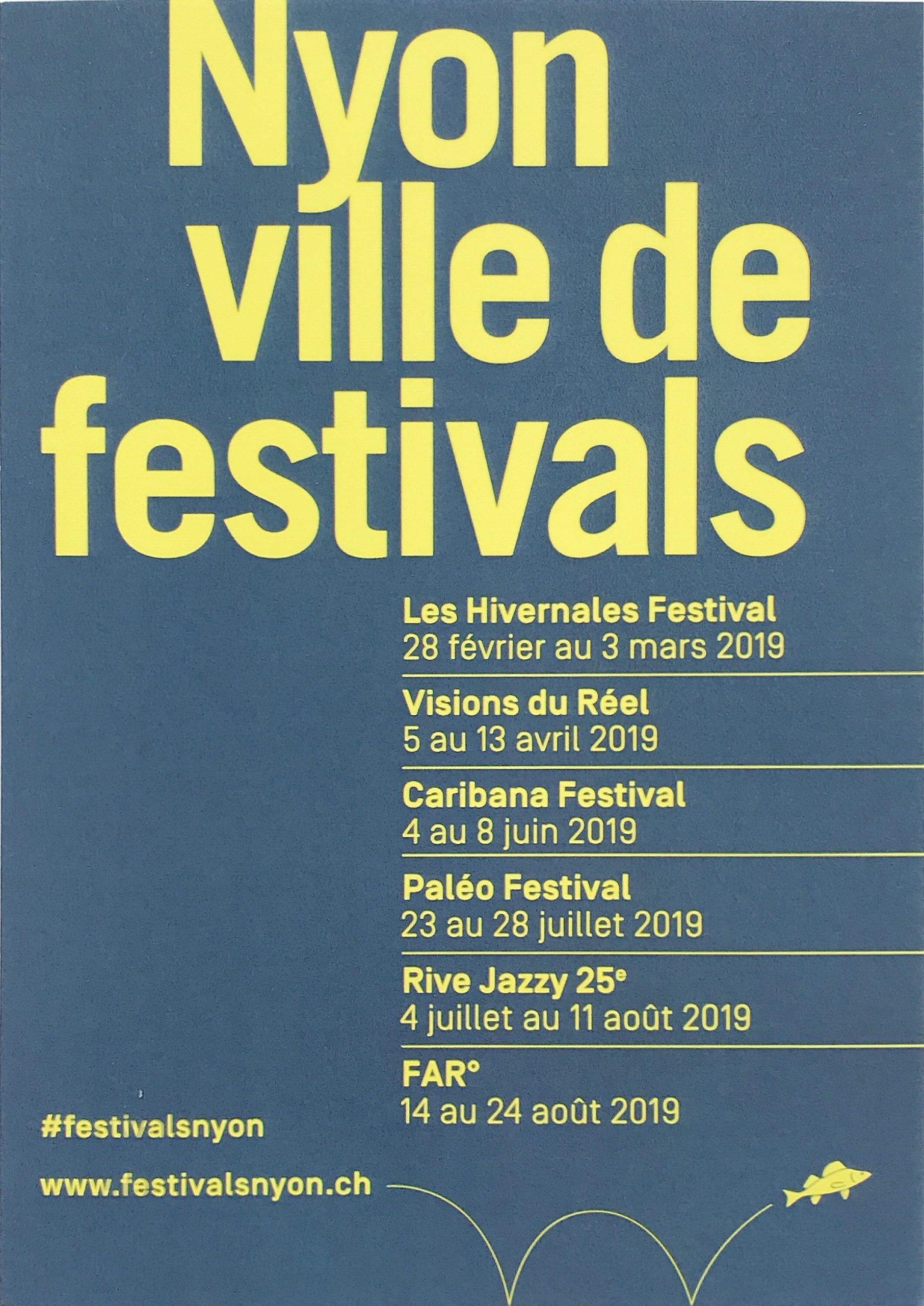 Nyon ville de festivals 2019