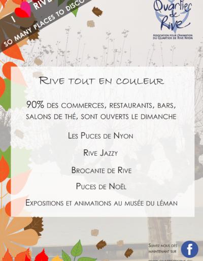 Affiche automne - hiver 2019 - 2020, Quartier de Rive