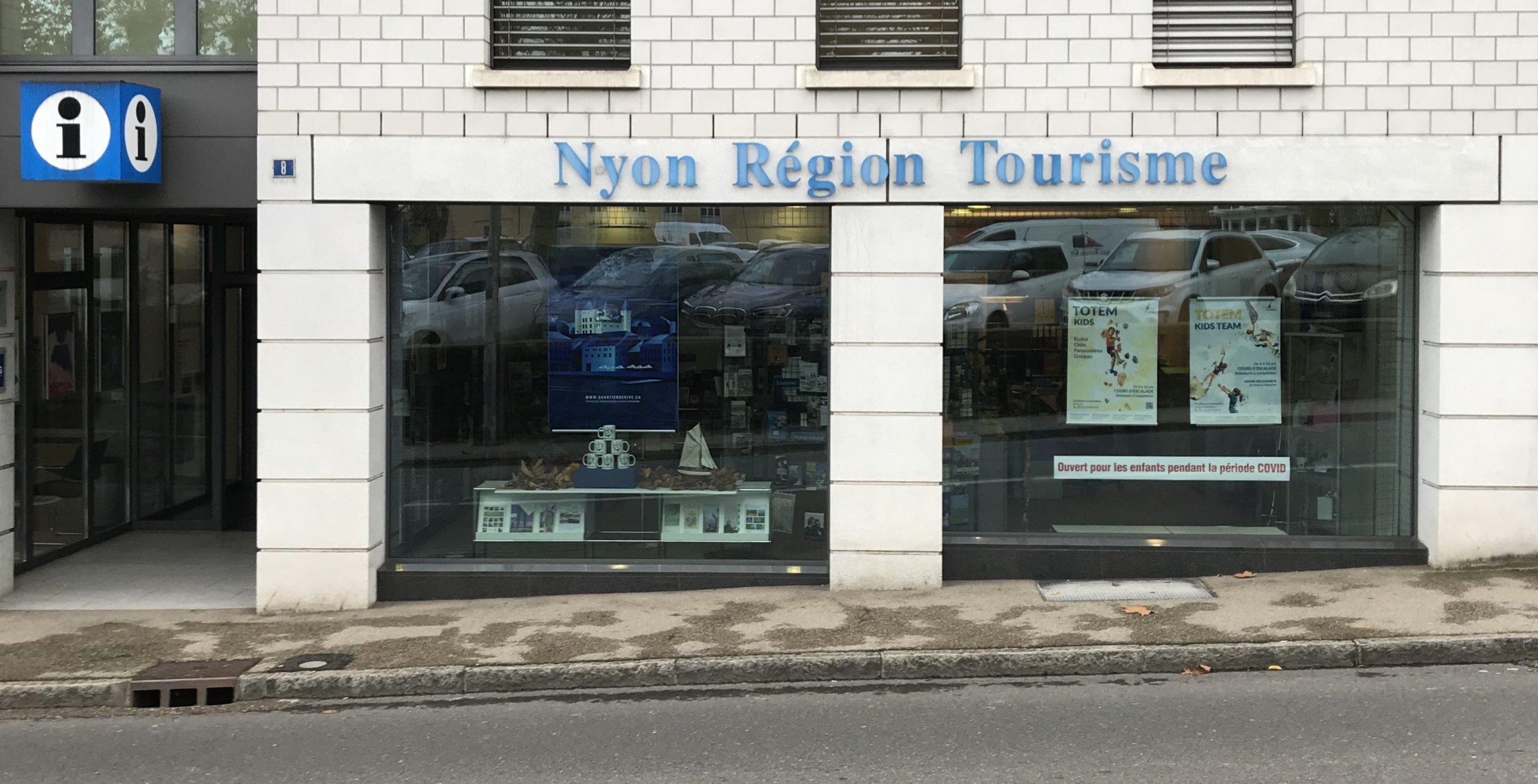 vitrine du Quartier de Rive- Nyon Région Tourisme-