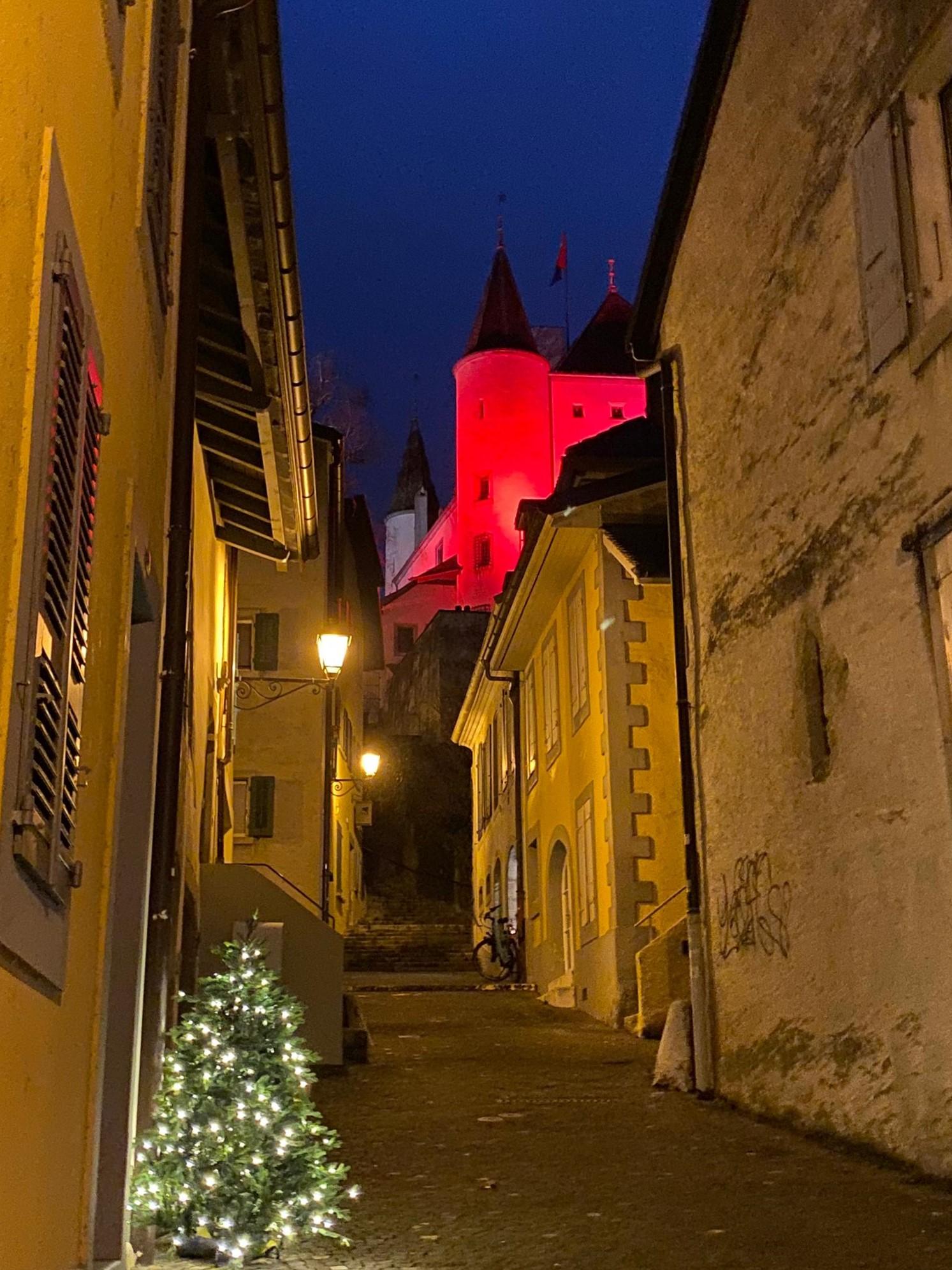 Le Château de Nyon depuis la Rue de la Poterne, Quartier de Rive