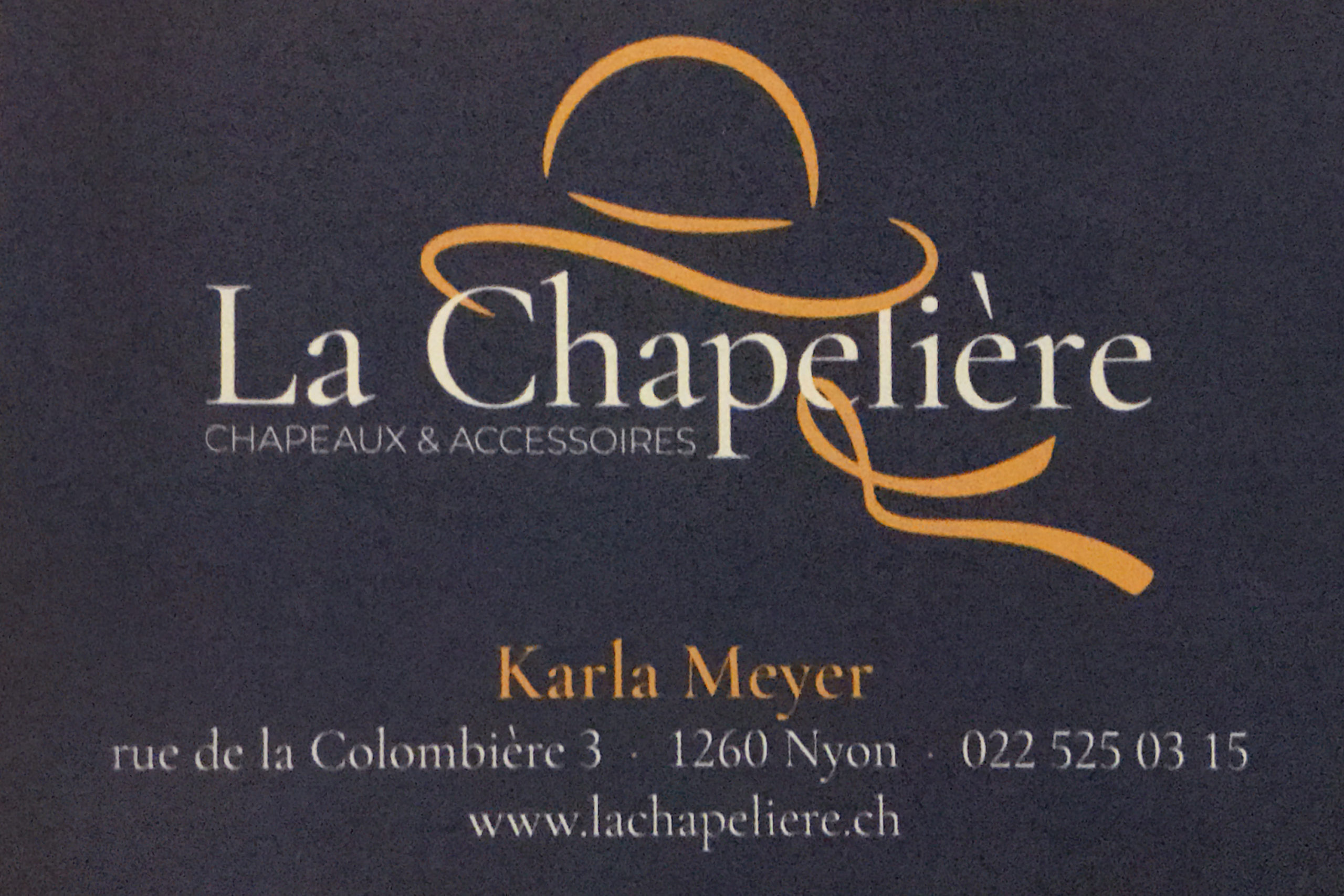 Carte de visite ''La Chapelière''