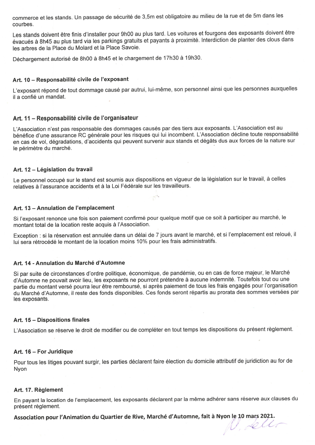REGLEMENT DU MARCHE D'AUTOMNE 2021 avec signature 2